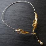 Lano(ラノ) 手作りアクセサリー 南洋パール×銅×真鍮×シルバー ボヌール ネックレス [LN-4213]