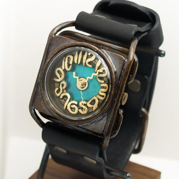 Mari Goto(マリゴトー) 手作り腕時計 kaku ブルー[MG-004-BL]