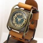 Mari Goto(マリゴトー) 手作り腕時計 kaku グリーン[MG-004-GR]