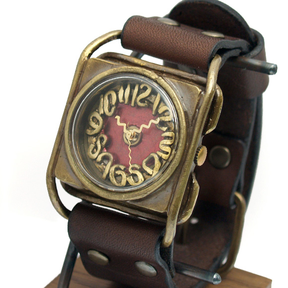 Mari Goto(マリゴトー) 手作り腕時計 kaku レッド[MG-004-RD]