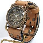Mari Goto(マリゴトー) 手作り腕時計 〜J〜 クラフトカフェ限定 デニム×レザーコンビベルト [MG-007-CF]