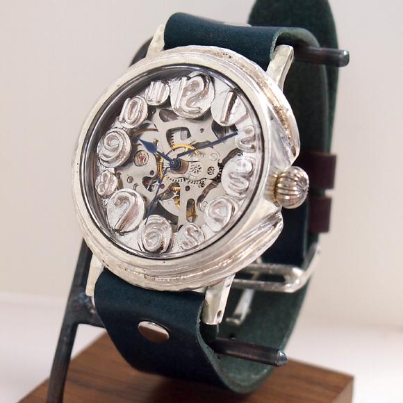 "Mari Goto(マリゴトー) 手作り機械式腕時計 裏スケルトン""dial""−ダイヤル− シルバー [MGM-01-dial-s]"