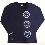 繭−mayu− 京友禅和柄Tシャツ 長袖 紺桔梗 絞り染め文様 メンズ・レディース [MY-TL1A-SH002]