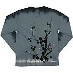 繭−mayu− 京友禅和柄Tシャツ 長袖 紺×水浅葱色 枝梅文 メンズ・レディース [MY-TL1B-UM001]