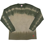 繭−mayu− 京友禅和柄Tシャツ 長袖 うぐいす色重ね染め メンズ・レディース [MY-TL5A-KS001]