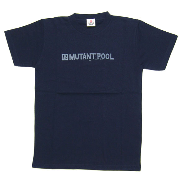 "mellow out デザインTシャツ ""MUTANT POOL""半袖 ネイビー メンズ・レディース [MO-KEN-001]"