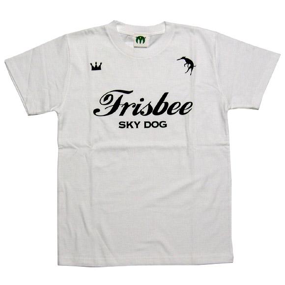 """mellow out デザインTシャツ """"SKY DOG""""半袖 ホワイト メンズ・レディース [MO-TEE-004]"""