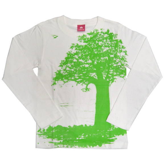 """mellow out デザインTシャツ """"nature conservation""""半袖 イエロー<br> メンズ・レディース [MO-TEE-013]"""