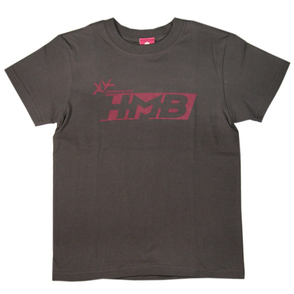 """mellow out デザインtシャツ """"hmb""""半袖 チャコールグレー メンズ・レディース [mo-tee-015]"""