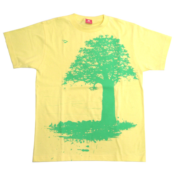 """mellow out デザインTシャツ """"Parent and Child""""長袖 イエロー レディース[MO-LTEE-003]"""