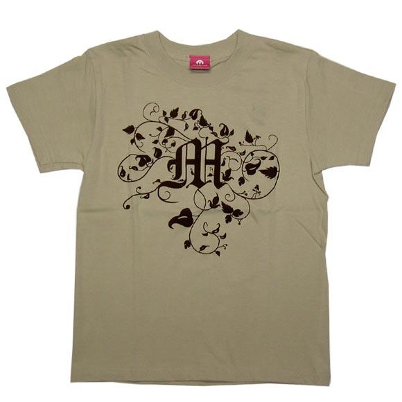 "mellow out デザインTシャツ ""Connection""半袖 ベージュ メンズ・レディース [MO-TEE-008]"