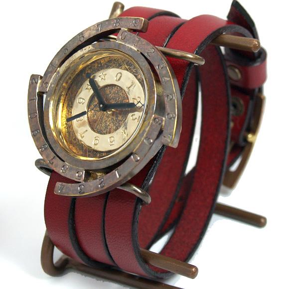 """8bfa1dd57a Metal Factory(メタルファクトリー) 手作り腕時計""""dedegumo""""銀河 [dedeW-B03"""