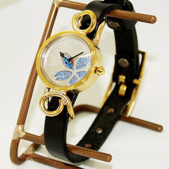 "460b3a31e8 Metal Factory(メタルファクトリー) 手作り腕時計""dedegumo""サクラ ブルー[KomB-"