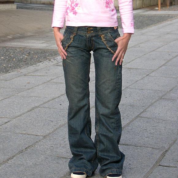 mizra(ミズラ) レディース 和柄バギーパンツ 着物地×花柄エンボス加工 LPW-36007