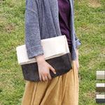 【丸洗いOK・3色から選べます】 MOUNTAIN DA CHERRY (マウンテン ダ チェリー) 4号帆布キャンバス×ピッグスエード クラッチバッグ 生成り×ピッグスエード [MDC-KRS]