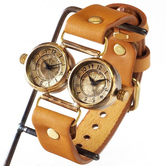 """渡辺工房 手作り腕時計 """"Dragonfly-DT"""" デュアルタイム ドーナツインデックス [NW-183-DI]"""