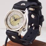 """渡辺工房 手作り腕時計 """"S-WATCH2-S-DATE""""デイト付き メンズシルバー [NW-207SV-DATE]"""