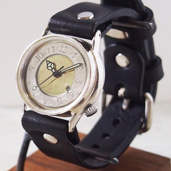 """渡辺工房 手作り腕時計 """"S-WATCH2-S-DATE"""" メンズシルバー [NW-207SV-DATE]"""