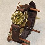 """渡辺工房 手作り腕時計""""BIWA""""レディースブラス [NW-235]"""