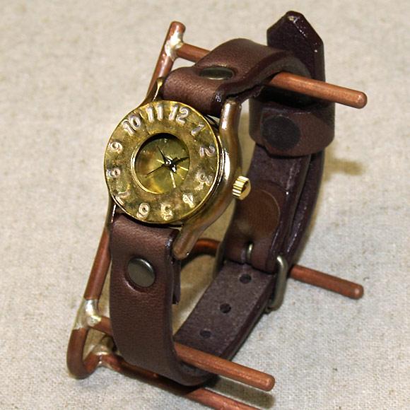 """渡辺工房 手作り腕時計<br> """"BIWA""""レディースブラス [NW-235]"""