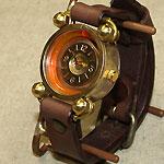 """渡辺工房 手作り腕時計""""FROG-Jr""""メンズブラス [NW-288]"""