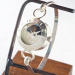 """渡辺工房 手作り腕時計  """"Silver Armlet 3"""" レディースシルバー  SUN&MOON 12時スワロフスキー [NW-289MSV-SM]"""