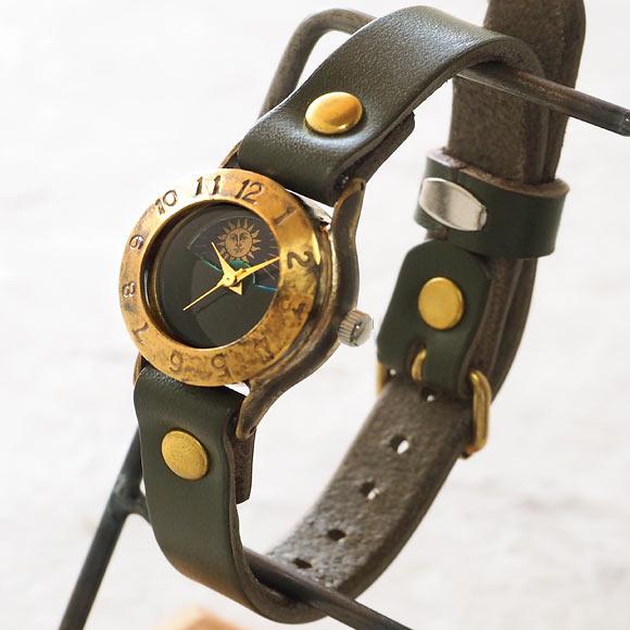 """渡辺工房 手作り腕時計  """"StrapLady-B-SUN&MOON""""レディースブラス カラーダイヤル [NW-289SM-COL]"""