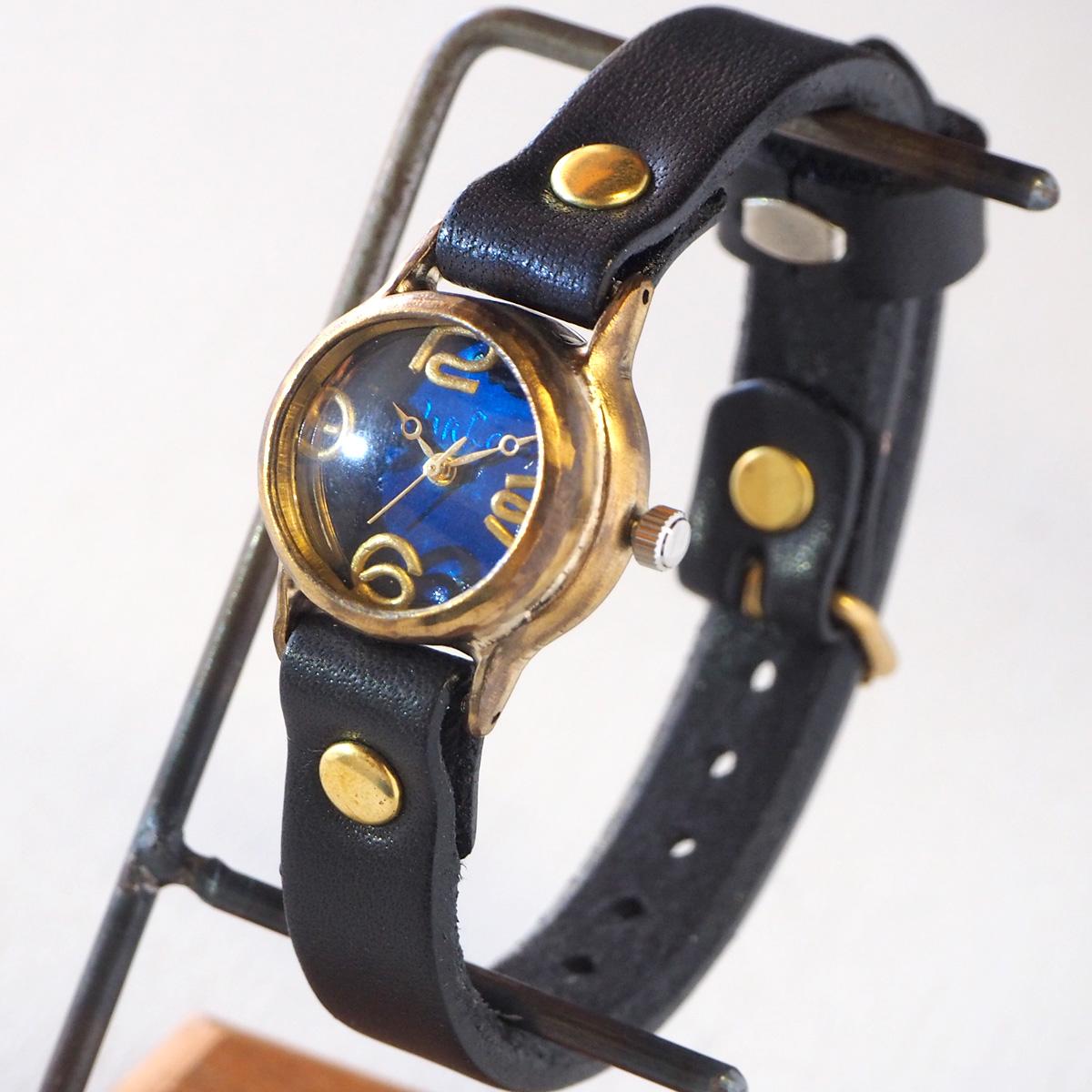 """渡辺工房 手作り腕時計 """"Lady on Time-B"""" ブルー文字盤 レディース [NW-305B-BL]"""