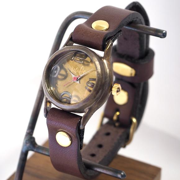 """渡辺工房 手作り腕時計 """"Lady-on-Time-B""""レディースブラス [NW-305B]"""