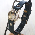 渡辺工房 手作り腕時計 レディースシルバー 真鍮数字 SUN&MOON [NW-362SV-SM]