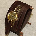 """渡辺工房 手作り腕時計""""Coil1-B""""5重巻きベルト レディースブラス [NW-45A]"""