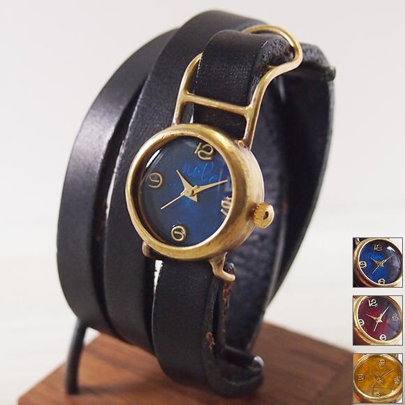 渡辺工房 手作り腕時計 自動巻き 裏スケルトンスクエア ジャンボブラス [NW-BHW061]