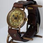 渡辺工房 手作り腕時計 手巻き式 メンズブラス [NW-BHW040]
