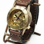 """渡辺工房 手作り腕時計 手巻き式 """"Explorer"""" ジャンボブラス [NW-BHW058]"""