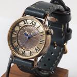 """渡辺工房・渡辺正明 手作り腕時計 """"S-WATCH-JB3"""" ジャンボブラス 手縫いベルト[NW-JUM101]"""