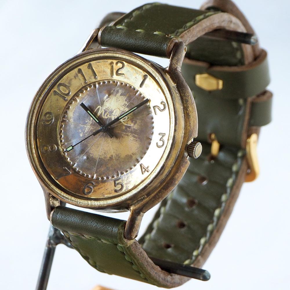 """渡辺工房 手作り腕時計 """"GRANDAD-B""""ジャンボブラス [NW-JUM116]"""