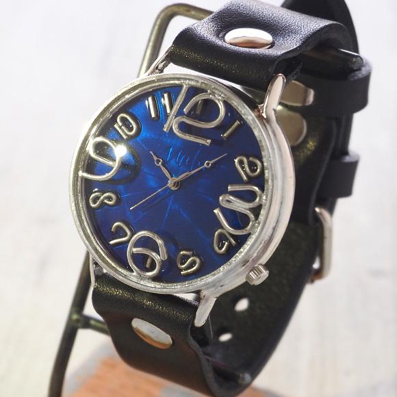 """渡辺工房 手作り腕時計 ジャンボシルバー """"GRANDAD 2"""" ブルー文字盤 [NW-JUM116B]"""