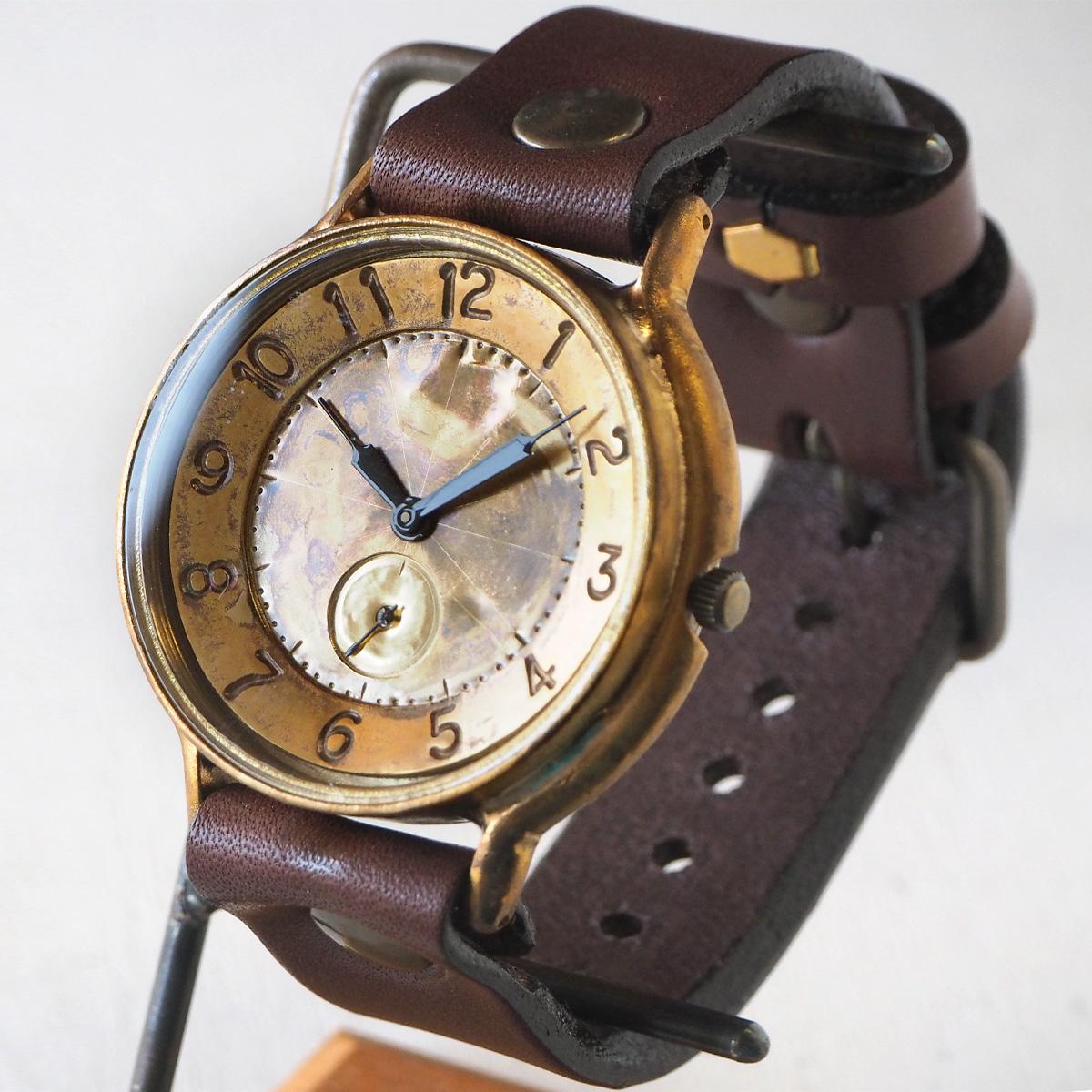 """渡辺工房 手作り腕時計 ジャンボブラス """"GRANDAD-B-SS2"""" 真鍮文字盤 スモールセコンド [NW-JUM116SS2]"""