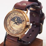 """渡辺工房 手作り腕時計 """"BigWheel2-B-SUN&MOON"""" ジャンボブラス [NW-JUM125-SM]"""