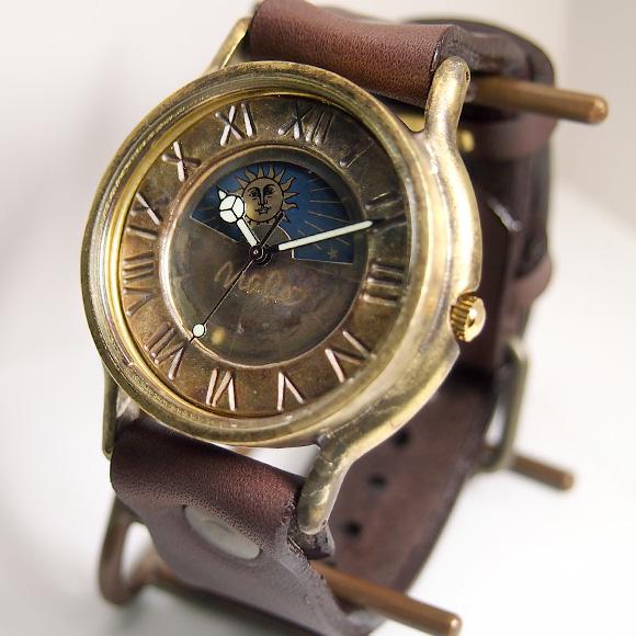"""渡辺工房 手作り腕時計 """"J.B. SUN&MOON"""" ジャンボブラス [NW-JUM31-SM]"""