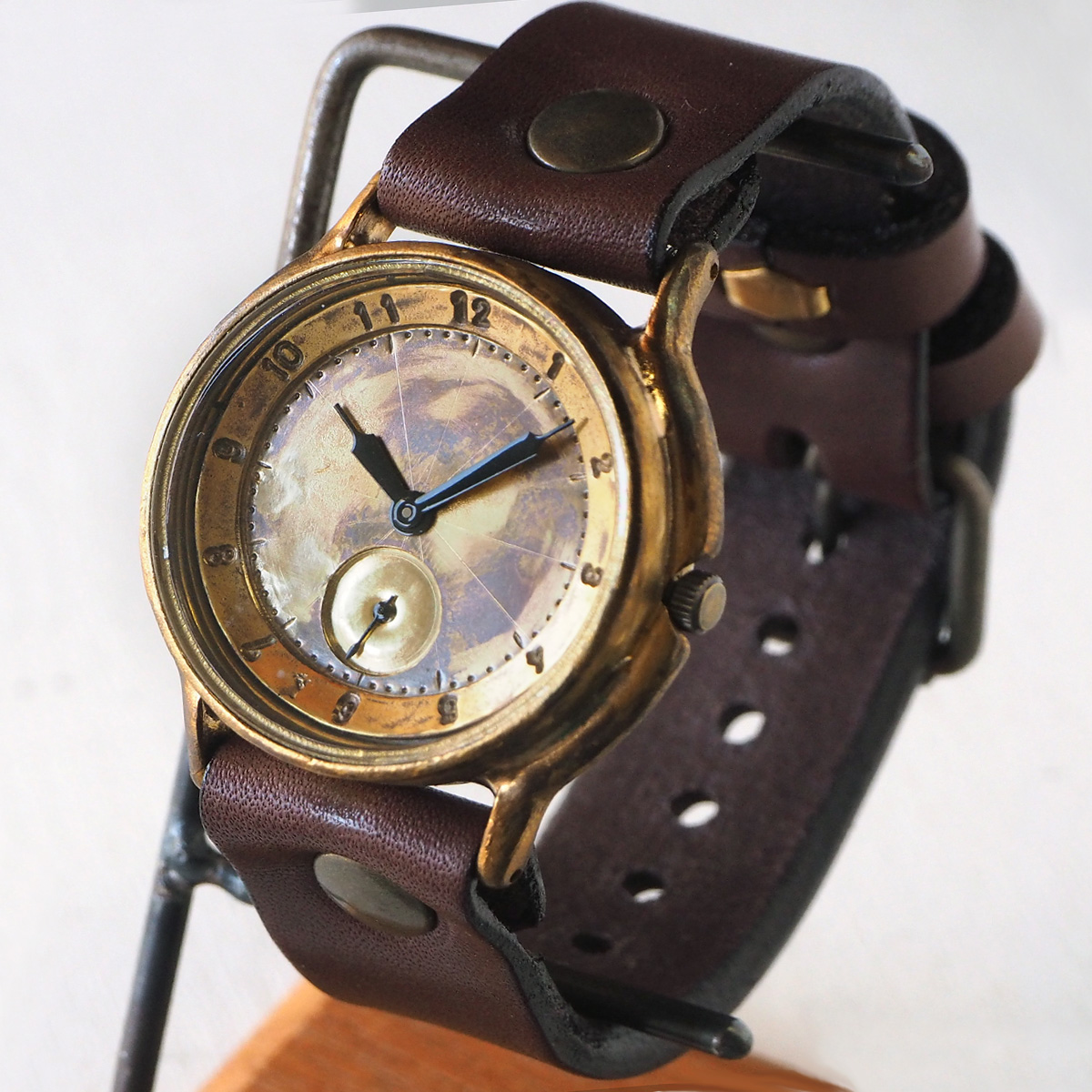 """渡辺工房 手作り腕時計 ジャンボブラス """"J.B.-SS2"""" 真鍮文字盤 スモールセコンド [NW-JUM31SS2]"""