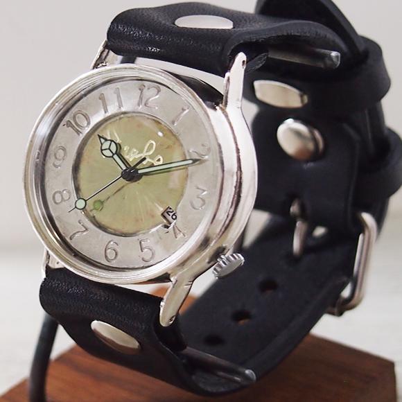 """渡辺工房 手作り腕時計 """"J.S.2-DATE"""" ジャンボシルバー [NW-JUM31SV-DATE]"""
