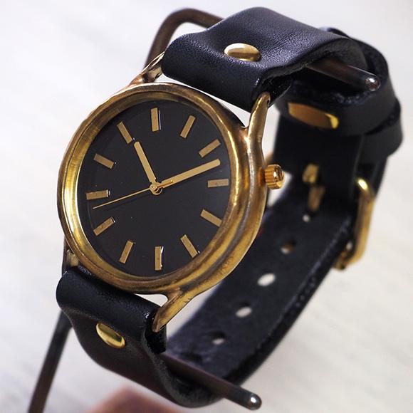 """渡辺工房 手作り腕時計 """"J.S.B"""" ジャンボブラス バーインデックス [NW-JUM38-BR]"""