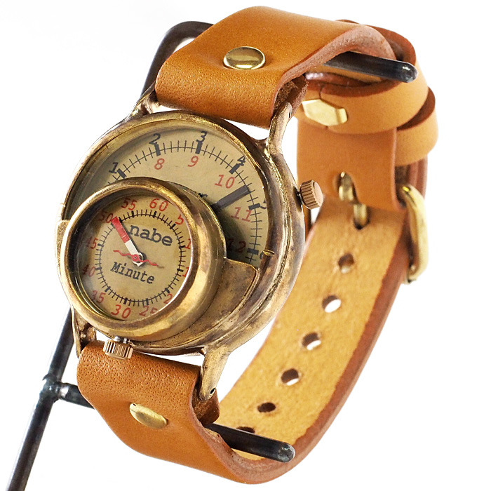 """渡辺工房 手作り腕時計 """"MASK2"""" ジャンボブラス [NW-JUM59B]"""