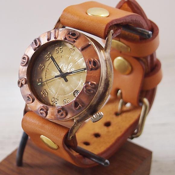 """渡辺工房 手作り腕時計 """"Explorer-JB3-DATE"""" ジャンボブラス [NW-JUM65B-DATE]"""