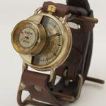 """渡辺工房 手作り腕時計""""SCOPE-L""""ジャンボ真鍮 [NW-JUM66]"""