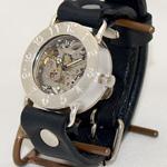 渡辺工房・渡辺正明 手作り腕時計 裏スケルトン ジャンボシルバー [NW-SHW042]