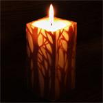 """nuri candle キャンドル作家 福間乃梨子 手作りキャンドル""""エルムの森で""""Mサイズ [NU-PR-ELM01-M]"""
