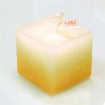 """nuri candle キャンドル作家 福間乃梨子 手作りアロマキャンドル """"しましまアロマ"""" レモングラス [NU-PR-SHIMA01]"""