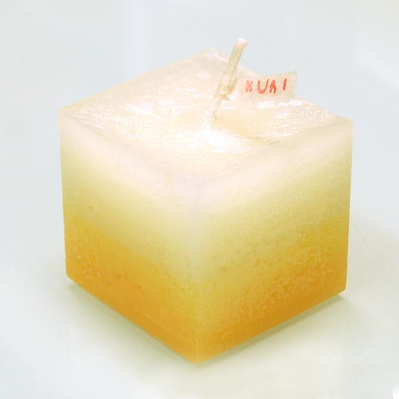 """【2つの香りから選べます!】nuri candle キャンドル作家 福間乃梨子 手作りアロマキャンドル """"しましまアロマ"""" レモングラス [NU-PR-SHIMA01]"""